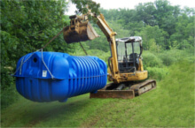 septic service such as tank installation and pumping